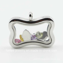 New Design Costume Stainless Steel Jewelry Floating Locket Pendant
