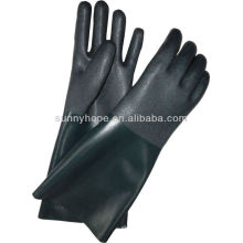 black sandy PVC coated gloves