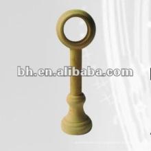 Естественный цвет одиночный деревянный кронштейн трубы занавеса для домашнего декора