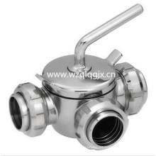 Válvula de enchufe de la lechería del acero inoxidable con la unión