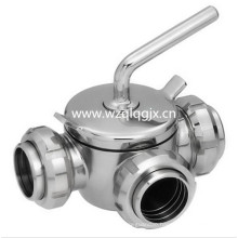 Stainless Steel Dairy Plug Valve with Union