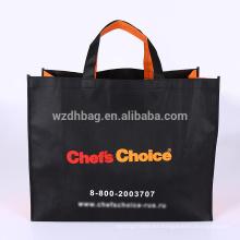 La bolsa de asas promocional no tejida reutilizable al por mayor 2018 de encargo para hacer compras, regalo, supermercado