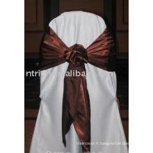 ceinture en satin normal, ceinture en polyester, ceinture de chaise