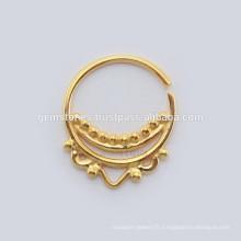 Vente en gros de bijoux en anneaux à anneaux Septum, créateurs faits à la main Septum Nose Ring Body Jewelry Wholesale Suppliers