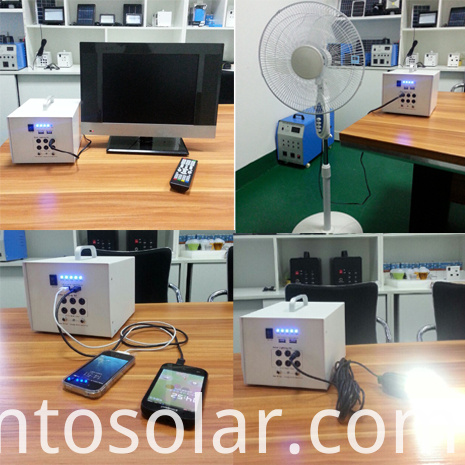Solar Powered Tv and Fan