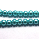 4mm round glass pearl beads