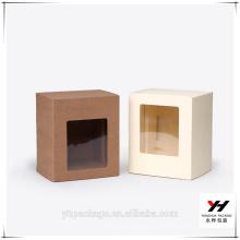 Boîte d'emballage de papier d'emballage en plastique de carton de carton de fenêtre concurrentielle de prix de 2018