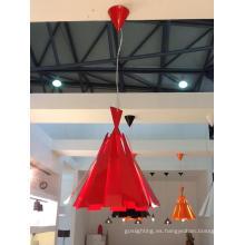 Lámpara colgante de acero de carbón rojo moderno (2200S)