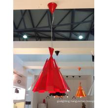 Modern Red Carbon Steel Pendant Lamp (2200S)