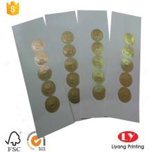 Impresión sitcker de papel autoadhesivo en rollo de hoja