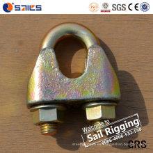 Clip de cuerda de alambre de zinc amarillo maleable DIN 1142