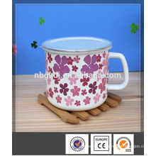 logo full printing enamel mug