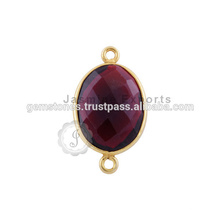 Vermeil Gold Gemstone Bezel Connector Conectores de bisel al por mayor