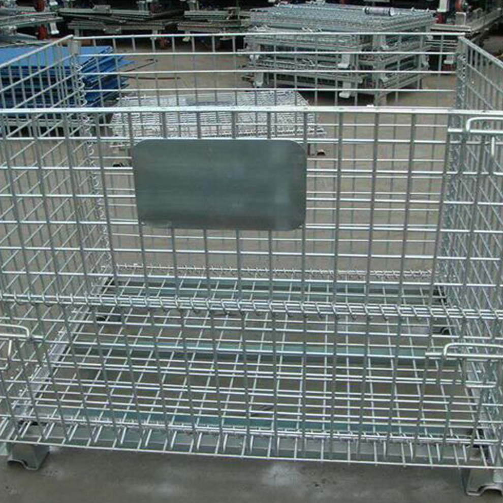 Steel Wire Pallet Cage For Warehouse Storage China Manufacturer