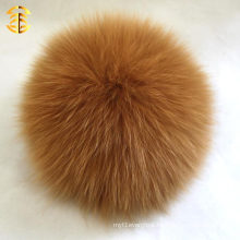 Pretty fox fur pom poms pendant decoration party free animations girls beanies pom wholesale fox fur ball keychain