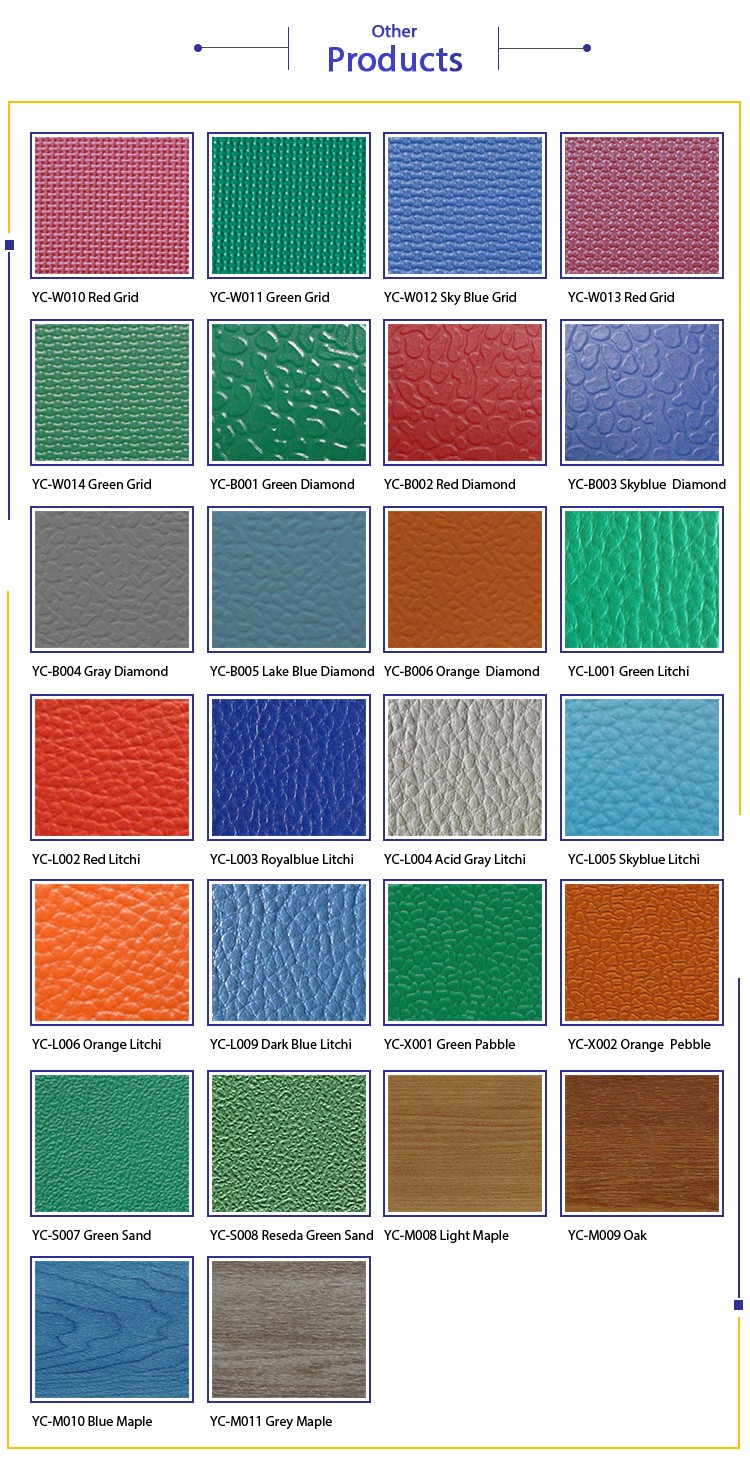 PVC FLOOR COLOR CARD