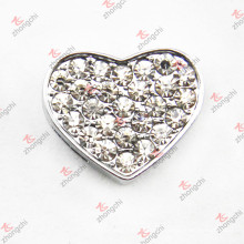 10mm Crystal Heart Slide Charm for Bracelet (JP10)