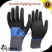 SRSAFETY 13G Вязаный нейлон с покрытием Двойные нитриловые перчатки