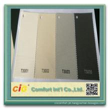 tecido de cortinas de rolo de tela PVC estores protetor solar Fabirc 70% 30% poliéster