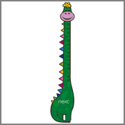 Funny giraffe shaped PP height measurement children plastic growth chart