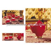 Красная глазурь, выложенная съедобным золотым кофе, установила новый продукт, сделанный в Китае