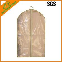 Reciclar saco de roupa de plástico transparente com zíper