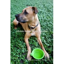Preço de Fábrica Resistência ao Calor Resistente ao Calor Non-stick Silicone Dobrável Pet Pet Dobrável / colapso Pet Dog Cat Bowl