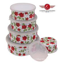 2014 New Style High Quality Enamel Bowl with Lid