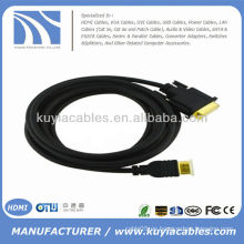 Placa de oro 6FT HDMI al cable VGA 1080p 1.8M KY-HVW015G