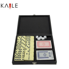 Hot Selling Popular 3 in 1 Game Set in Leather Box
