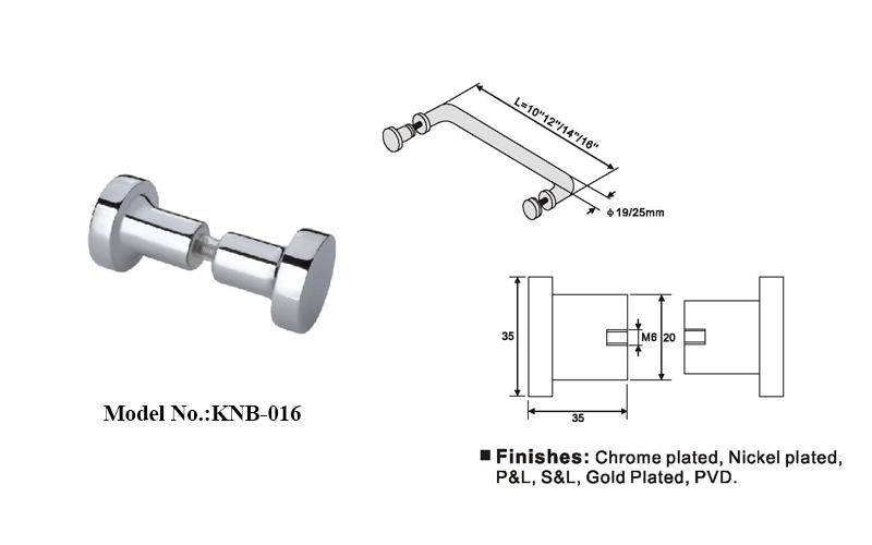 Stainless Steel Shower Room Door Knob