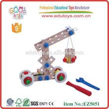 Parafuso de madeira Take Apart Toy Car Assembly