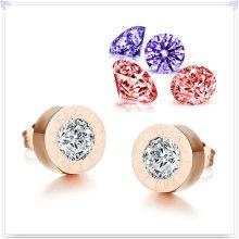 Joyería del acero inoxidable joyería cristalina pendiente de la moda (EE0085)