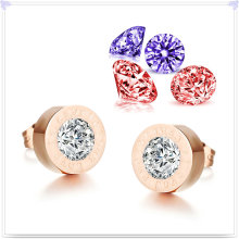 Jóia de aço inoxidável jóia de cristal brinco de moda (EE0085)