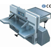 program control double worm wheel double guide paper cutting machine
