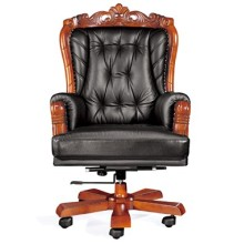 Barockstil Luxuriöser Rotationsbüro Supervisor Stuhl