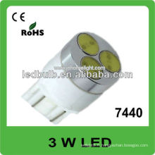 7440 3W haute puissance 12V 24V led auto light