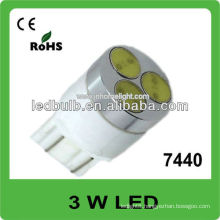 7440 3W high power 12V 24V led auto light