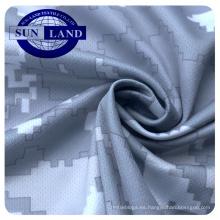 Impresión de sublimación impresión digital 100% poliéster deportes cuello redondo camisa de malla de tela