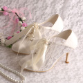 Ivory+Lace-up+Wedding+Booties+for+Bride
