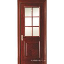 Balanço de abertura de portas de banheiro pintado de interiores folheadas com 6 painel vidro