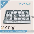 Stainless Steel Built-in 5 Burners Cooking Gas Hob Gas Cooktop