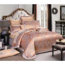 Luxuoso poli-algodão jacquard bordado novo Dubai cama conjunto de folhas de design conjunto de cama