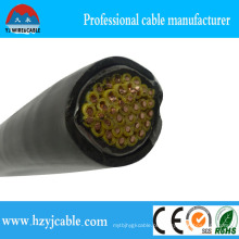 Kvv, 0.6 / 1kv cabo de controle flexível do cobre