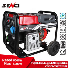 Hot sale 5Kw 50Hz silent Air-cooled Diesel generator set