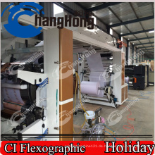 Flexodruckmaschine / Sechsfarbig / für Etiketten / Zentraltrommel