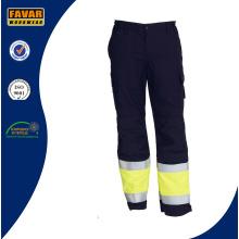 Желтый черный хлопок дрель Men′s свет Привет Vis брюки брюки работы