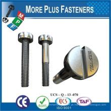 Fabricado em Taiwan Slotted Cheese Head Machine Screws Carbon Steel ISO 1207