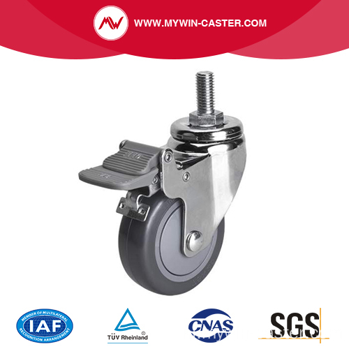 Chrome 3 inch 80Kg Geneste Brake PU Caster