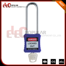 Promotional Item Long Shackle Plastic Type of Rectangular Safety Padlock